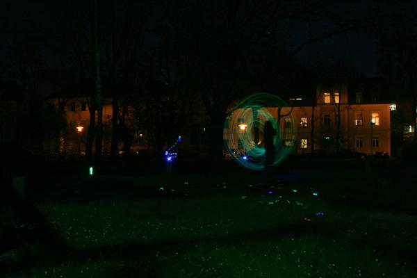 Nachtworkshop Lichtzeichnungen JUKS Schnetz